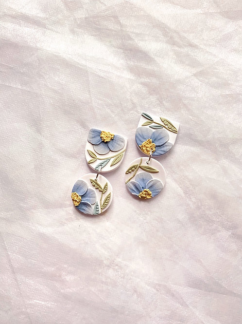 Powder Blue Poppies - Mini Maya