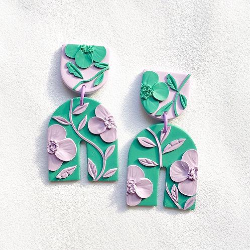 Lavender/ Green Poppies - Umbra Maxi