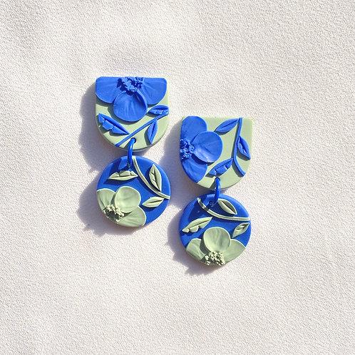 Blue/ Sage Poppies - Mini Maya