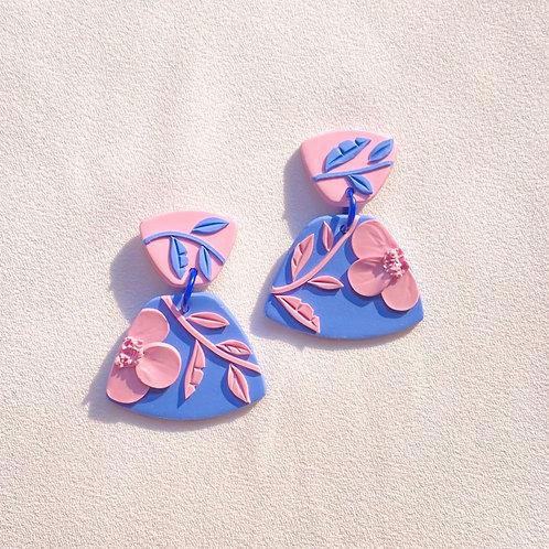Deep Periwinkle/Pink Poppies - Midi Leia