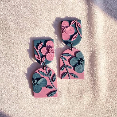 Magenta/Teal Poppies - Allegro