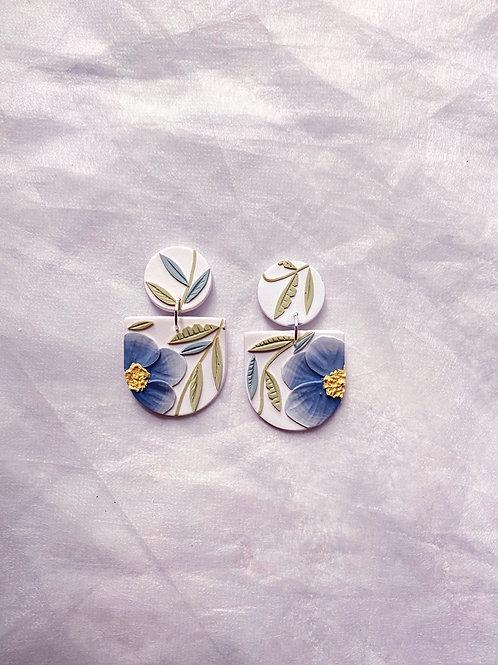 Powder Blue Poppies - Mini Frida
