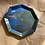 Thumbnail: Trinket Tray - Forest blue, gold marble (Seconds Sale)