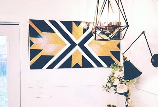 Geometric Wood Wall Art