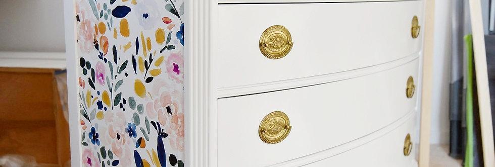 Floral Vintage Dresser