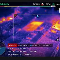 Analyse  des  écarts thermiques sur  zone  d'incendie