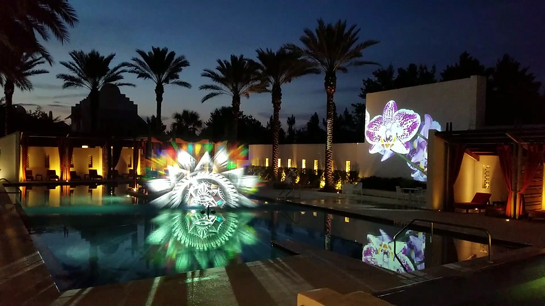 Waterscreen Projection Mapping