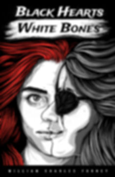 Black Hearts White Bones Kindle and Paperback cover.