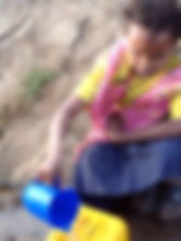 10 years old Gaddise fetching water afte