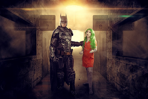 Batman and Female Joker Cosplay Photography in Hugglescote, Leicestershire