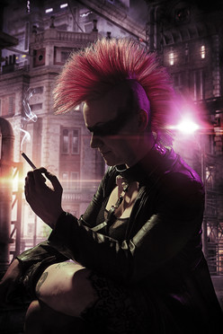 Cyberpunk Cosplay Photography in Hugglescote, Leicestershire