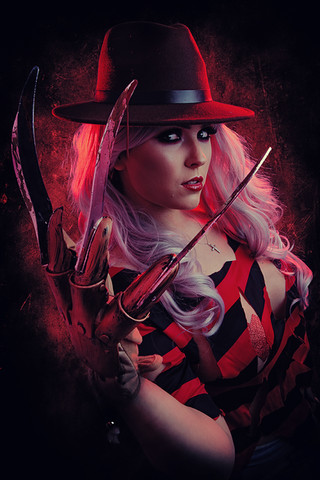 Female Freddy Cosplay Photography in Hugglescote, Leicestershire