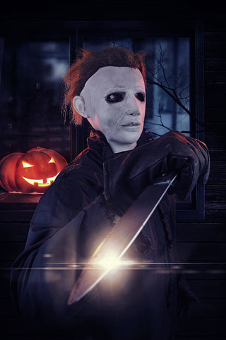 MIchael Myers Cosplay Photography in Hugglescote, Leicestershire