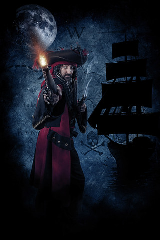 Pirate Cosplay Photography in Hugglescote, Leicestershire