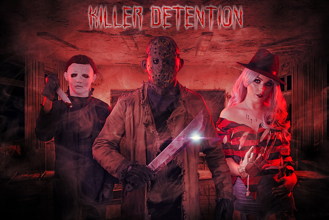 Micheal, Jason and Female Freddy Cosplay Photography in Hugglescote, Leicestershire