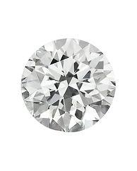 Diamond _ top view of loose brilliant ro