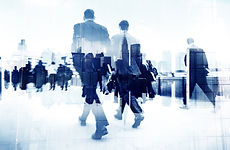 Abstract Image of Business People Walkin