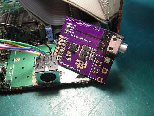 Kit : RGB - PC Engine THS7374 Amp - White Model