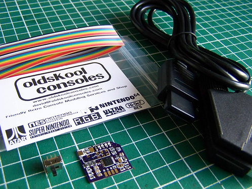 SNES Mini / Junior 7374 RGB Amp Mod Kit WITH SCART