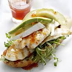 Grilled Chicken with Brie