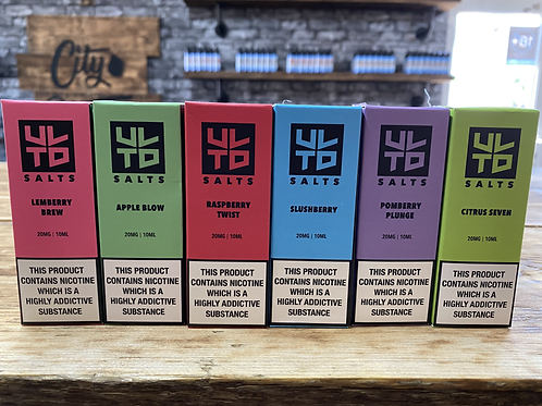 ULTD E-Liquids 10ML Nic Salts