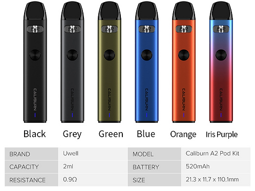 Caliburn A2 Pod System By Uwell