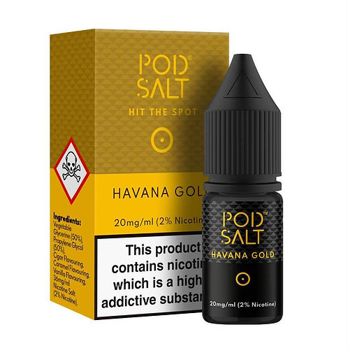 Pod Salt Nic Salts - Havana Gold 10ml 20MG