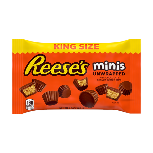 Reese's Peanut Butter Cup Mini's King Size 70g