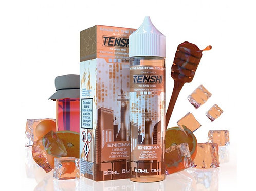 Tenshi Natomi Menthol | ENIGMA - HONEY ORANGE MENTHOL | 50ml Shortfill | 0mg