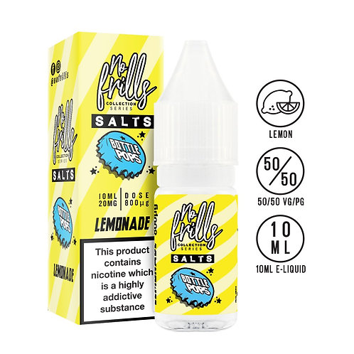No Frills Salts - Bottle Pops: Lemonade Nic Salt 10ml 20mg