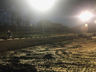 FRONT STRETCH WALL PROJECT COMPLETED