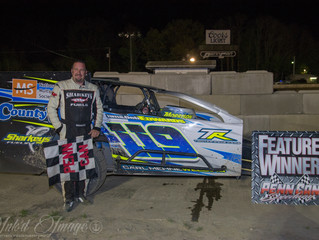 BRIAN MALCOLM ESCAPES WITH FIRST VICTORY OF 2018. RAY LEONARD EARNS FIRST CAREER WIN IN 602 MODIFIED