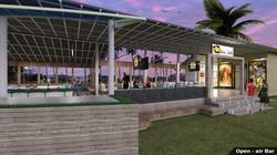 Open concept Bar