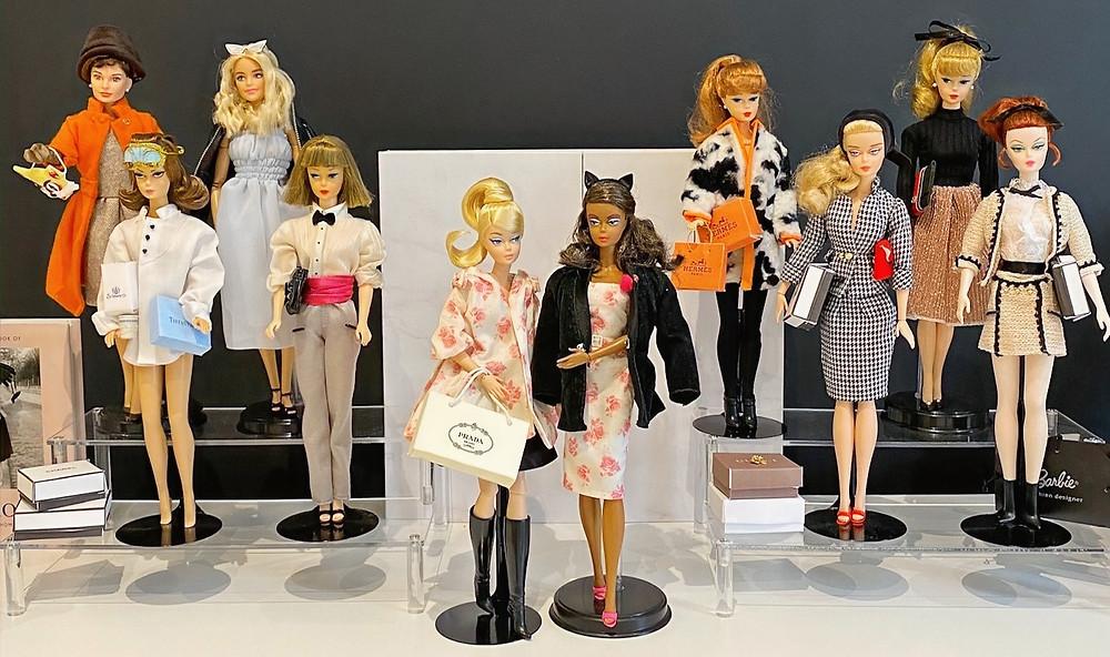 Barbie doll collection belonging to Jennifer Vallez