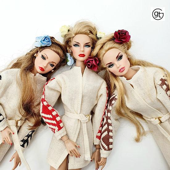 Doll Linen Wrap Dress