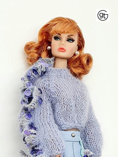 Doll Lilac Ruffle Jumper