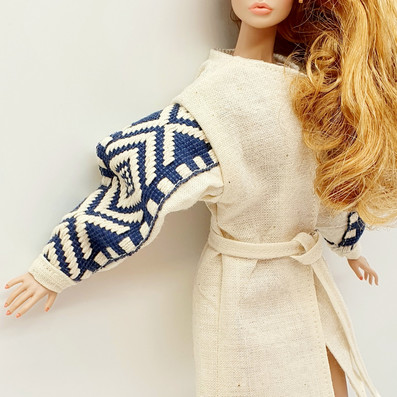 Authentic motive in doll fashion presented in out LINEN LOVE colection