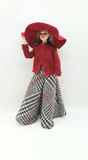 Doll Checked Wide Trousers