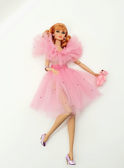 Doll Candy Floss Pink Gown