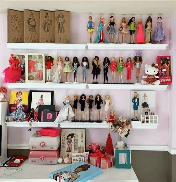 Fashion dolls on display