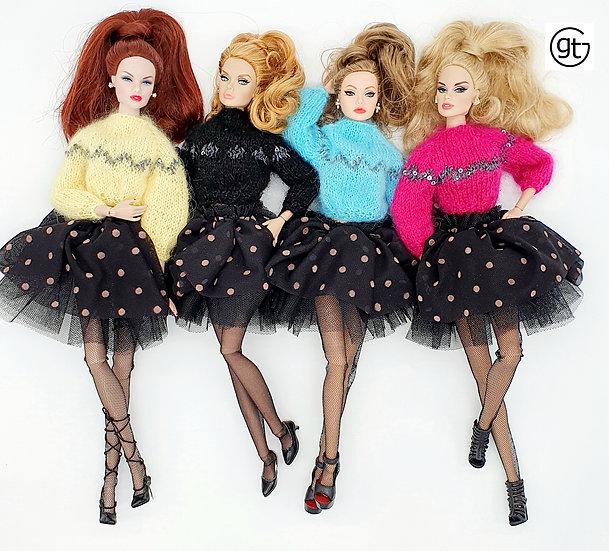 Doll Sequin Mohair Jumper