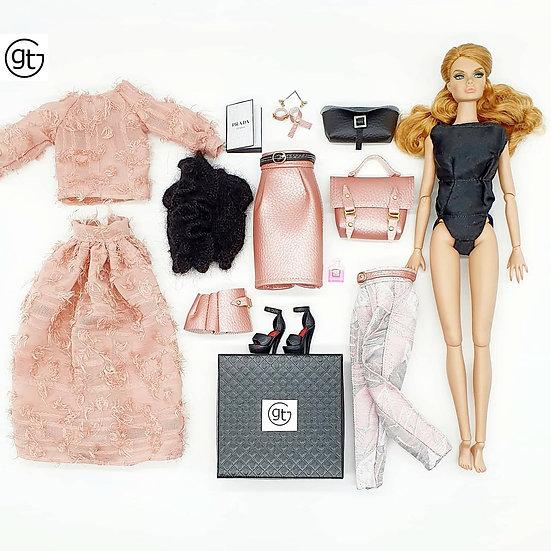 Total Look 10 Piece Dusky Pink Fashion Set