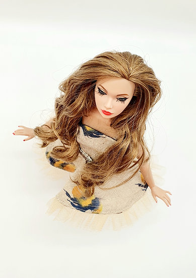 Doll Linen Watercolours Dress