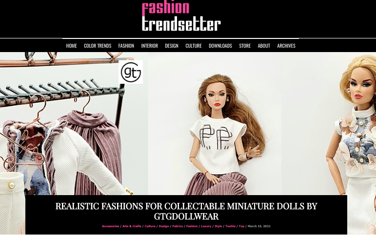 Luxury in Every Stitch Realistic fashions for collectable miniature dolls is on a rise