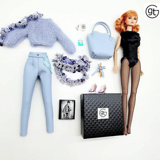 Total Look 5 Piece Fashion Sequin Glamour Ensemble