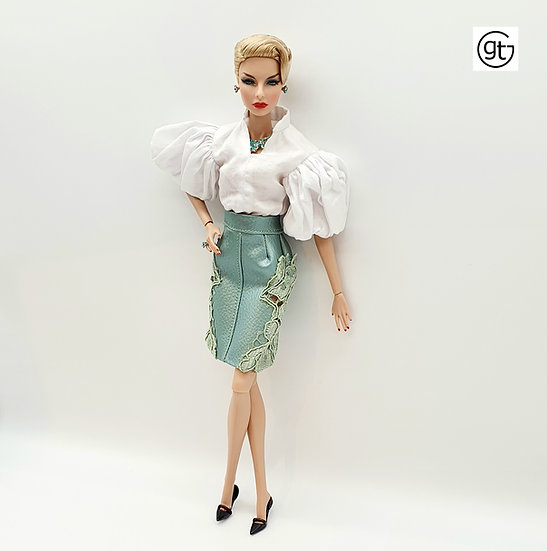 Doll Lace and Leather Skirt