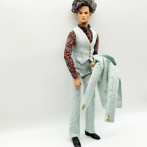 Male Doll Three Piece Suit