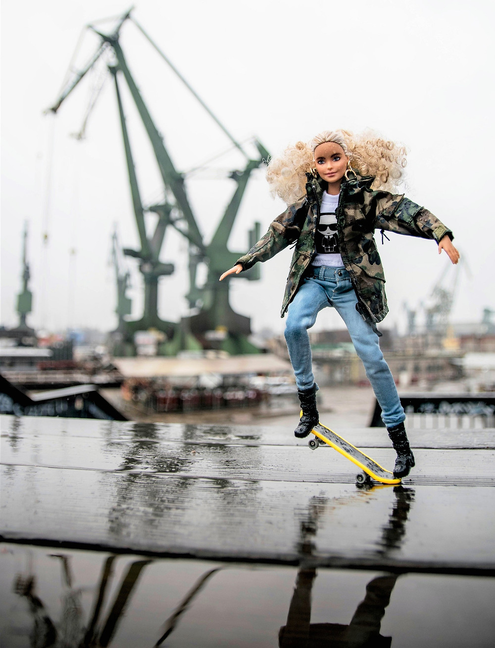 Traveling Doll Pants project for doll collectors around the world to showcase their collectable dolls, doll fashion and accessories