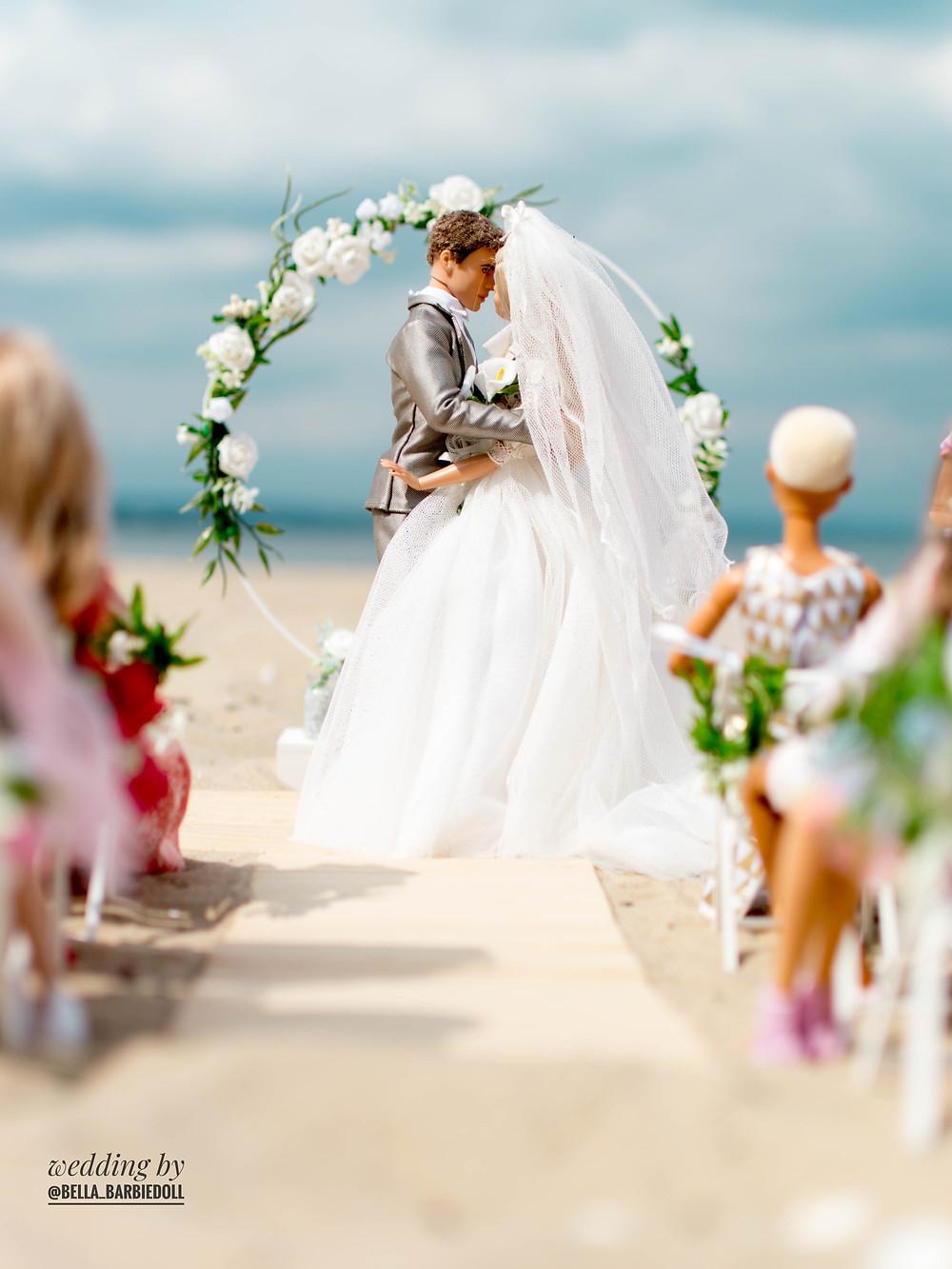 barbie and ken doll wedding photo