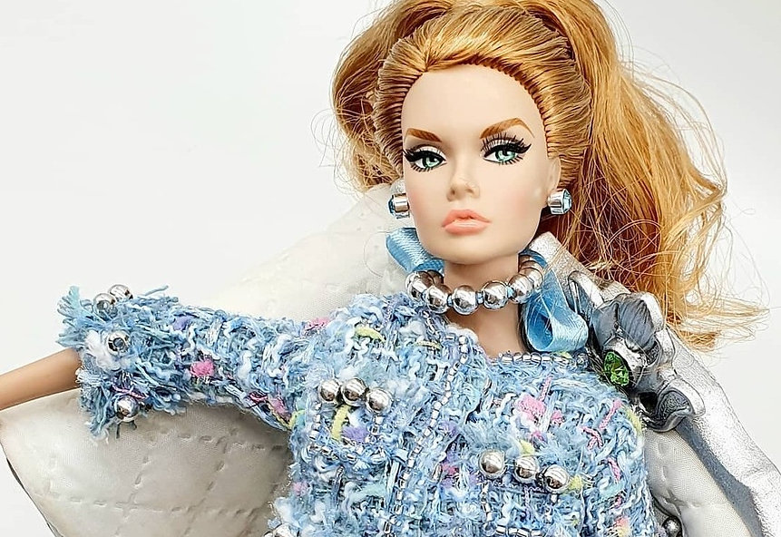 Poppy Parker New York Integrity Toys Doll wearing gtGdollwear Iconic Ensemble